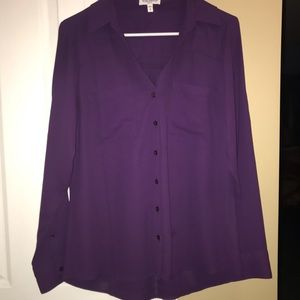 Express purple blouse